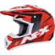 Red/Black/White  FX-17Y Youth Holeshot Helmet