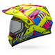 Hi-Viz/Pink MX-9 Adventure Snow Tagger Double Trouble Helmet w/Dual Lens Shield