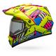 Hi-Viz/Pink  MX-9 Adventure Snow Tagger Double Trouble Helmet w/Electric Shield