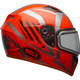 Orange/Titanium Qualifier Blaze Snow Helmet w/Dual Lens Shield