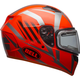 Orange/Titanium Qualifier Blaze Snow Helmet w/Electric Shield