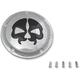 Chrome w/Black Skull Split Skull Derby Cover (5-Hole) - 1107-0546
