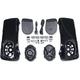 Saddlebag Lid Kit w/Rokker XXR Speakers and Plug and Play Wiring Harness - HSBL-065X7-XXR