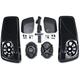 Saddlebag Lid Kit w/Rokker XXR Speakers and Plug and Play Wiring Harness - HSBL-145X7-XXR