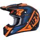 Matte Black/Orange/Blue FX-17 Force Helmet