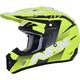 Matte Neon Yellow/Black/White FX-17Y Youth Helmet