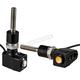 Black Single Rat Eye LED Mirror Mount Turn Signals  - 05-215B