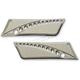 Chrome Saddlebag Latch Covers - BL9313-DC