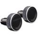 Black Knurled Saddlebag Latch Levers - SLK01-KN