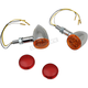 Chrome LED Dual Circuit Mini Deuce Clear Marker Lights with Amber/Red Lens - 2040-1959