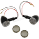 Gloss Black LED Dual Circuit Mini Deuce Red Marker Lights with Clear/Smoke Lens - 2040-1961