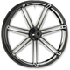 Black 7  Valve 26x3.5 Forged Aluminum Front Wheel (ABS) - 10301-206-6016