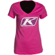 Women's Pink Razor Graphic V-Neck T-Shirt