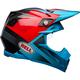 Matte Cyan/Gloss Red Hound Moto-9 Flex Helmet