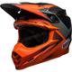Matte Orange/Gloss Charcoal Hound Moto-9 Flex Helmet