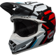 White/Black/Red Moto-9 MIPS District Helmet