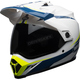White/Blue/Yellow MX-9 Adventure MIPS Torch Helmet