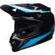 Black/Cyan/Red MX-9 MIPS Torch Helmet