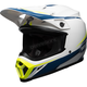 White/Blue/Yellow MX-9 MIPS Torch Helmet