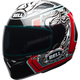 White/Red/Black  Qualifier Tagger Splice Helmet