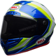 White/Hi-Viz Green/Blue Race Star Sector Helmet