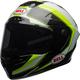 White/Hi-Viz Green Race Star Sector Helmet