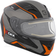 Matte Black/Gray/Orange RR610 Insert Snow Helmet w/Electric Shield