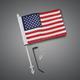Flag Pole w 6 in. x 9 in. Flag - 30-113A