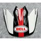White/Black/Red Visor for MX-9 MIPS Marauder Helmets - 7093247