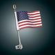 12 in. Flag Pole w/Eagle Topper - 4-248