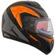 Orange Tranz RSV Eagle Modular Snow Helmet w/Electric Shield
