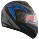Blue Tranz RSV Blue Modular Snow Helmet w/Electric Shield