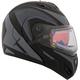 Gray Tranz RSV Eagle Modular Snow Helmet w/Electric Shield