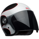 White/Black/Red Riot Boost Helmet