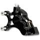 Black Front Left Ness-Tech Six-Piston Differential Bore Caliper - 02-211