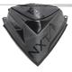 Flat Black Next Level Skinz Vented Windshield Pack - NXPWPV225-BK