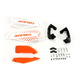 White/Orange X-Ultimate Handguards - 2645481088