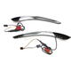 Gloss Black Batwing LED Fairing Trim w/Sequential Turn Signals - CD-BFT-14-SEQ-B