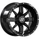 Black Front/Rear Hollow Point 14x8 Wheel - 570-1331