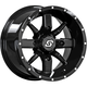 Black Front/Rear Hollow Point 14x8 Wheel - 570-1332