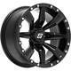 Black Front/Rear Sparx 14x7 Wheel - 570-1300