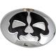 Chrome w/Black Skull Split Skull Fuel Door - 0703-0791