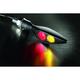 Satin Black Rear Right Micro Rhombus Run/Turn/Brake Light - 2546