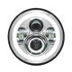 Chrome 7 in. Halomaker LED Headlight Kit - HW167004