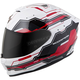 White/Red EXO-R420 Techno Helmet