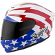 White/Red/Blue EXO-R420 Tracker Helmet