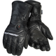 Black Synergy 7.4-Volt Battery Powered Heated Leather Gloves