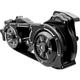 Black 2 in. Open Belt Drive Kit w/2 Piece Motor Plate - EV2PH-B17-B