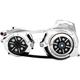 Chrome 2 in. Open Belt Drive Kit w/2 Piece Motor Plate - EV2PH-B17-C