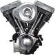 Black/Chrome V124 Complete Assembled Engine - 31-9885